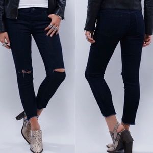 Free People | Ankle Jeans Destroyed Raw Cut Hem